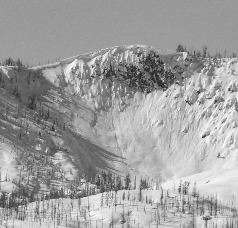 Cornices are quite large in the Banner Summit area. Many along the Copper Mountain ridge line are 15-20' thick.